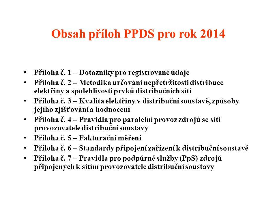Obsah příloh PPDS pro rok 2014