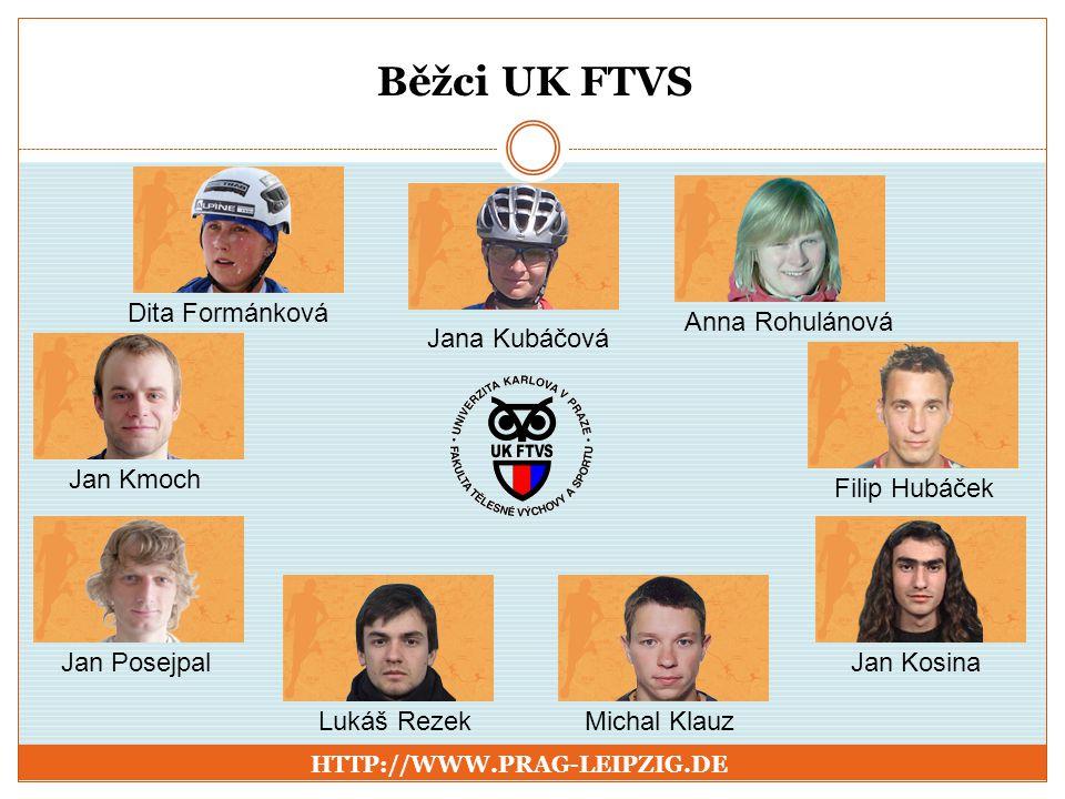 Běžci UK FTVS Dita Formánková Anna Rohulánová Jana Kubáčová Jan Kmoch