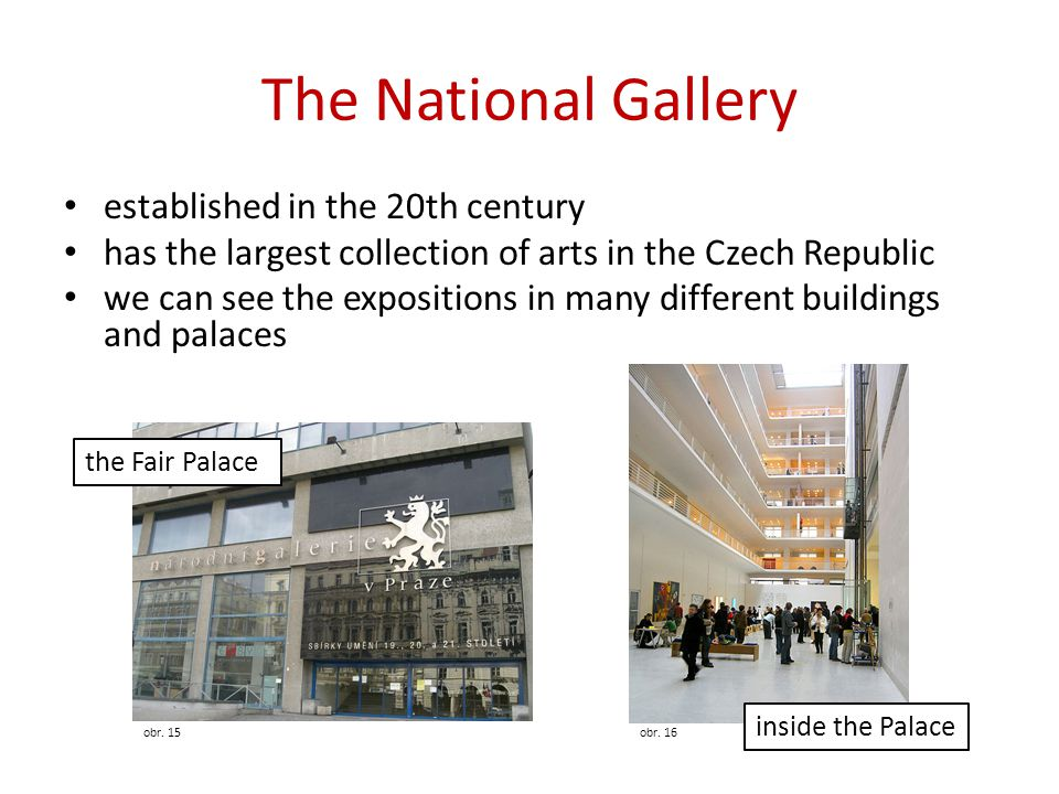 The National Gallery established in the 20th century