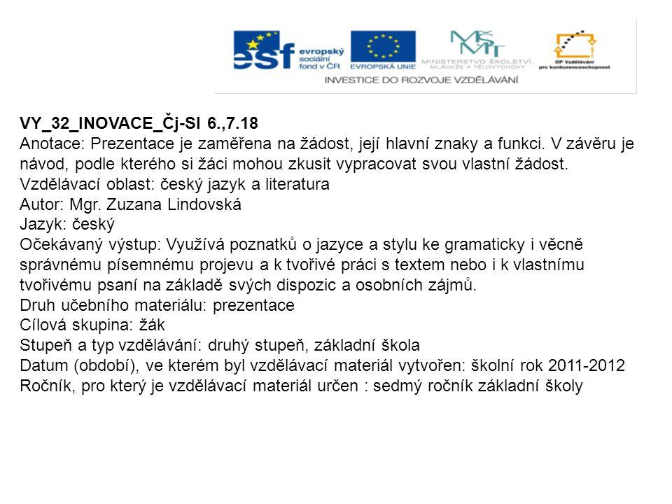 VY_32_INOVACE_Čj-Sl 6.,7.18