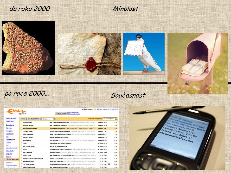 …do roku 2000 Minulost po roce 2000… Současnost