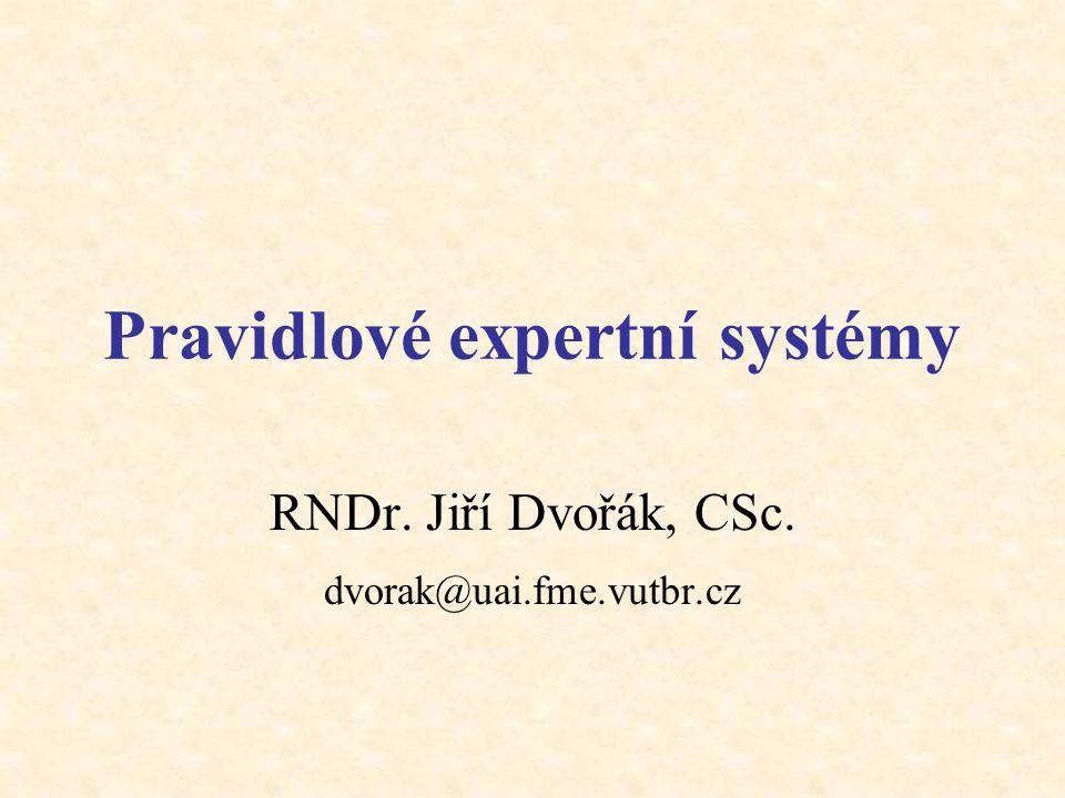 Pravidlové expertní systémy