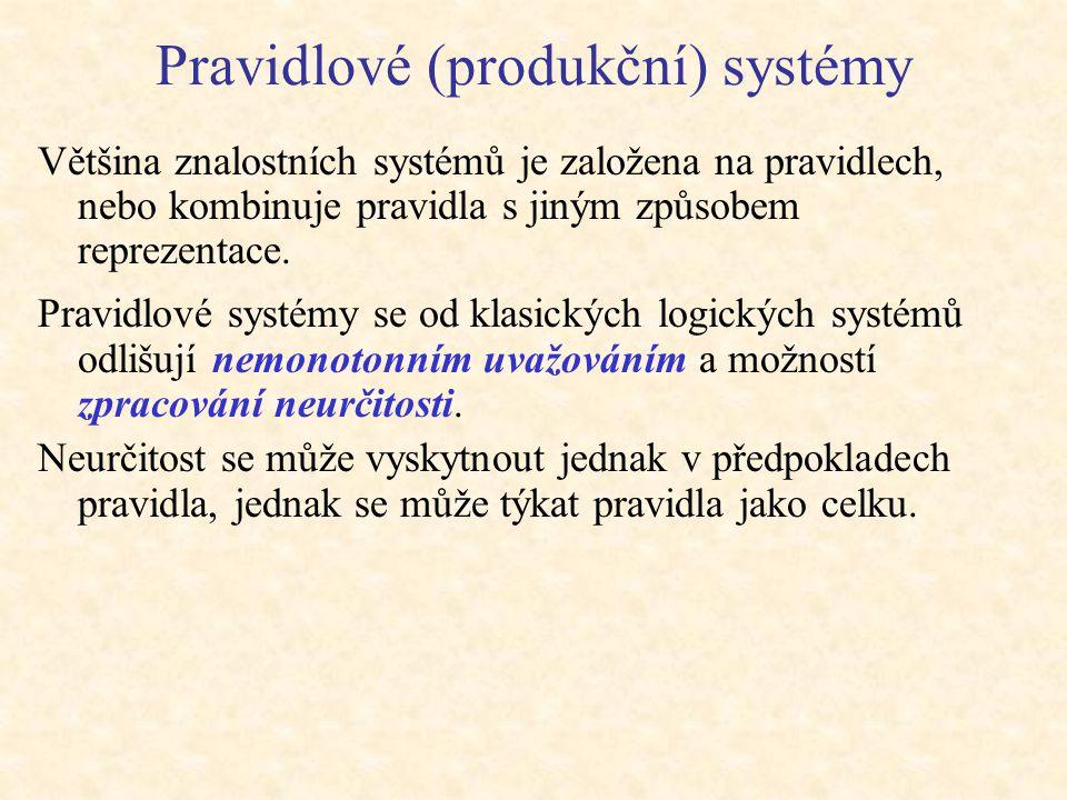 Pravidlové (produkční) systémy