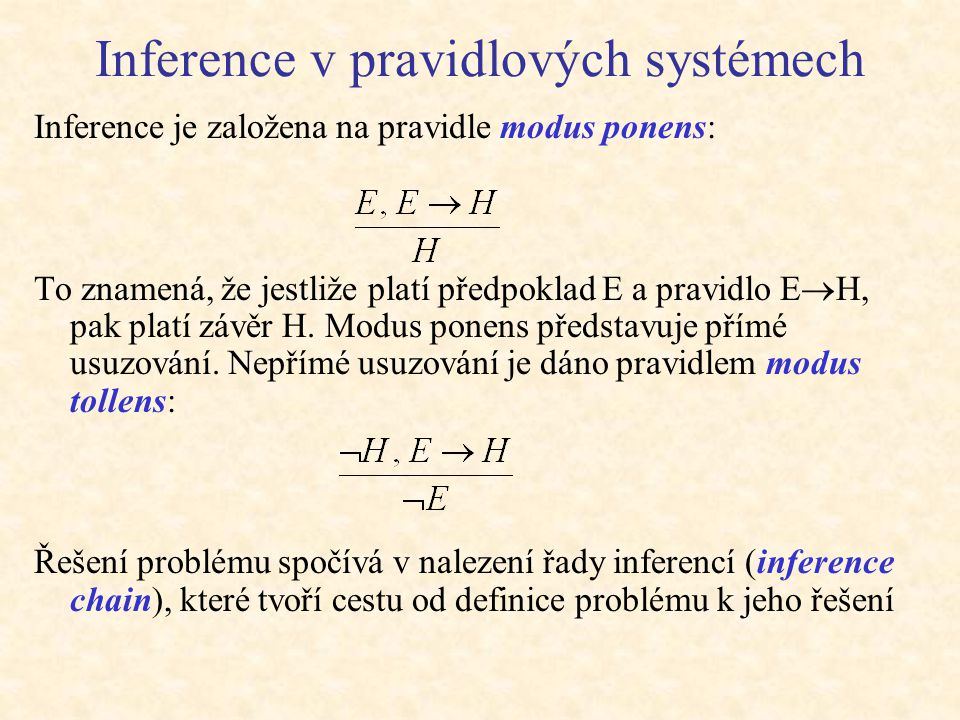 Inference v pravidlových systémech