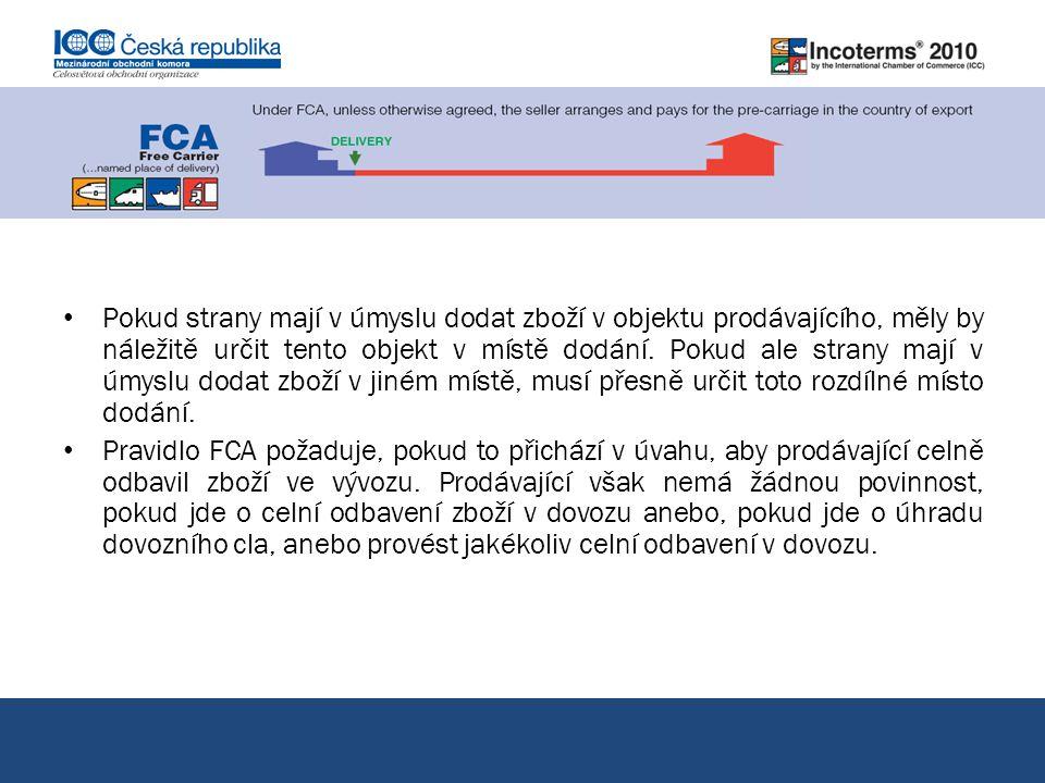 FCA vyplaceně dopravci pokračování
