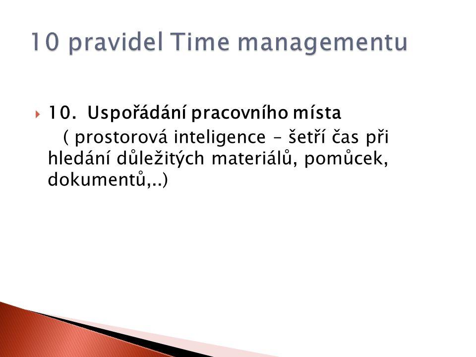 10 pravidel Time managementu