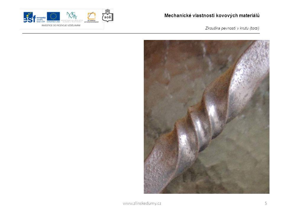 Zkouška pevnosti v krutu (torzi) Provádí se: 3/ u oceli za tepla
