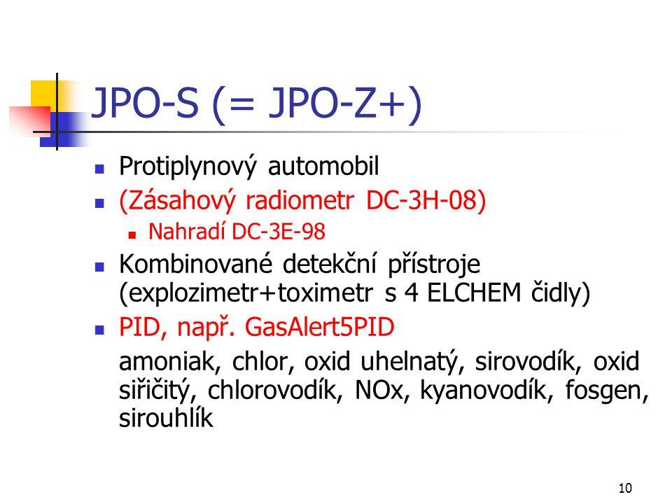 JPO-S (= JPO-Z+) Protiplynový automobil (Zásahový radiometr DC-3H-08)