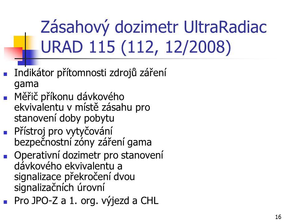 Zásahový dozimetr UltraRadiac URAD 115 (112, 12/2008)