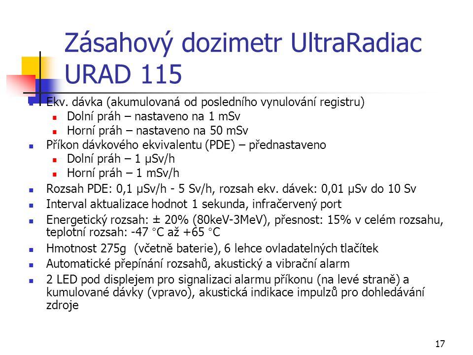 Zásahový dozimetr UltraRadiac URAD 115
