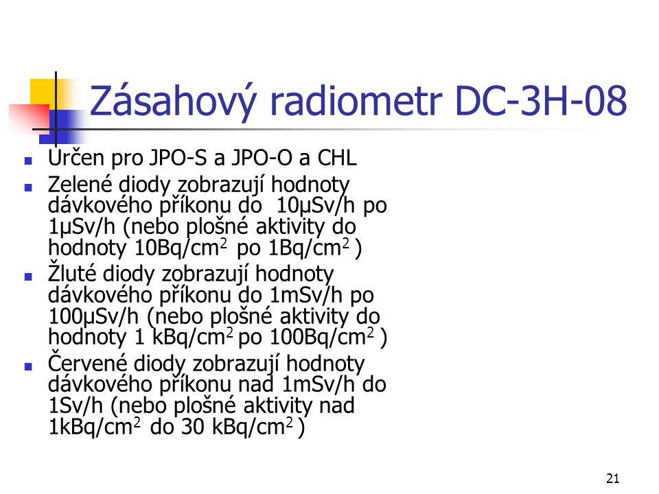 Zásahový radiometr DC-3H-08