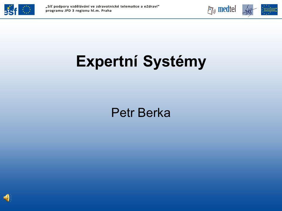 Expertní Systémy Petr Berka 1