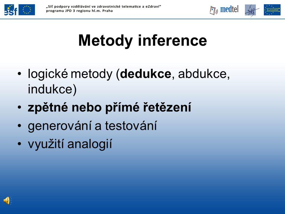Metody inference logické metody (dedukce, abdukce, indukce)