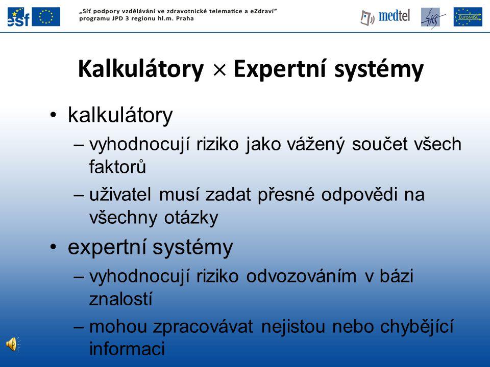 Kalkulátory  Expertní systémy
