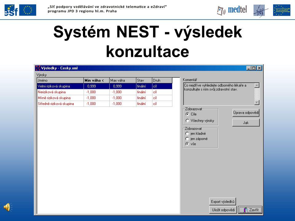 Systém NEST - výsledek konzultace