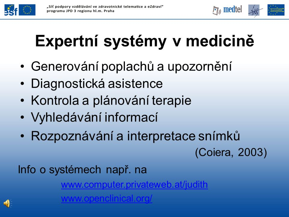 Expertní systémy v medicině