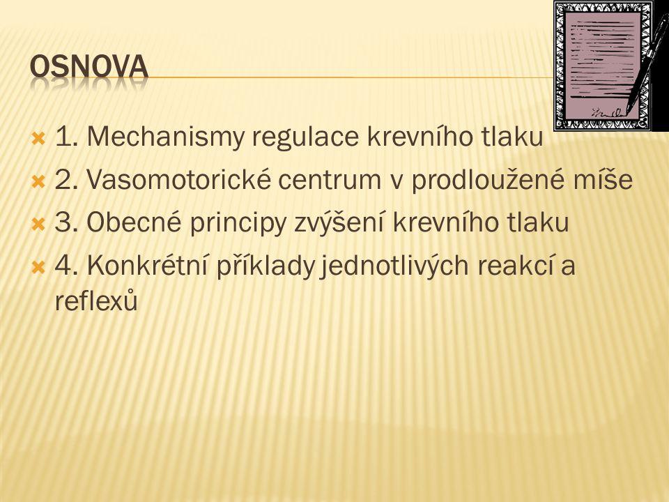 Osnova 1. Mechanismy regulace krevního tlaku