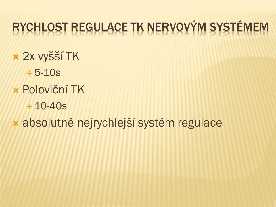 Rychlost Regulace TK nervovým systémem