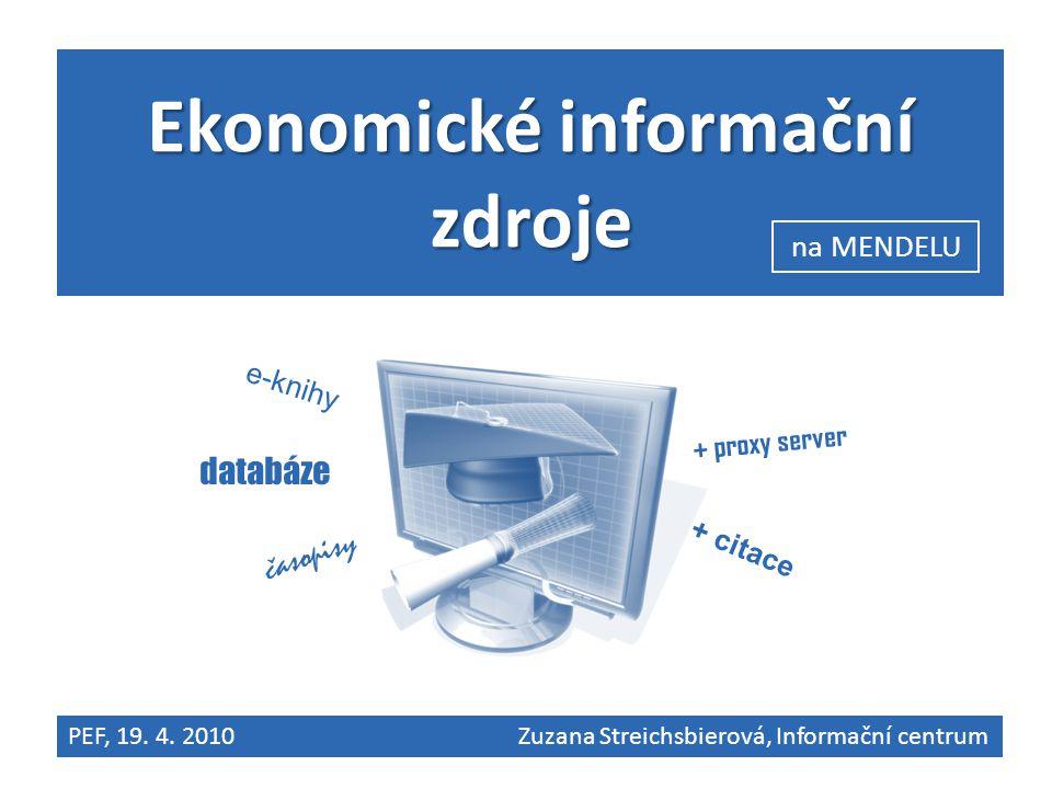 Ekonomické informační zdroje