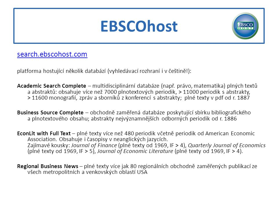 EBSCOhost search.ebscohost.com