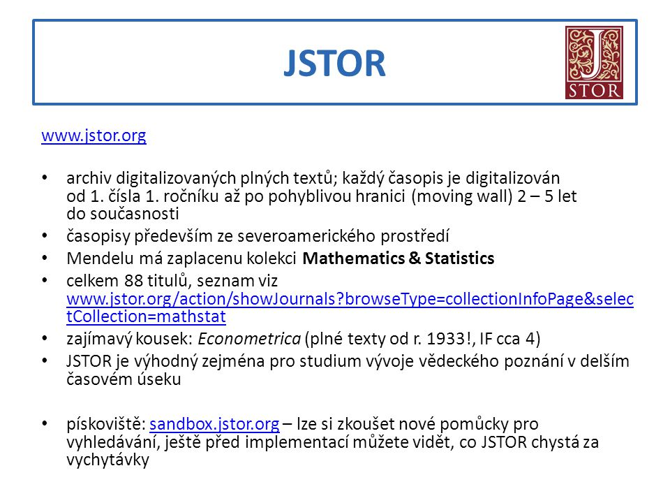 JSTOR www.jstor.org.