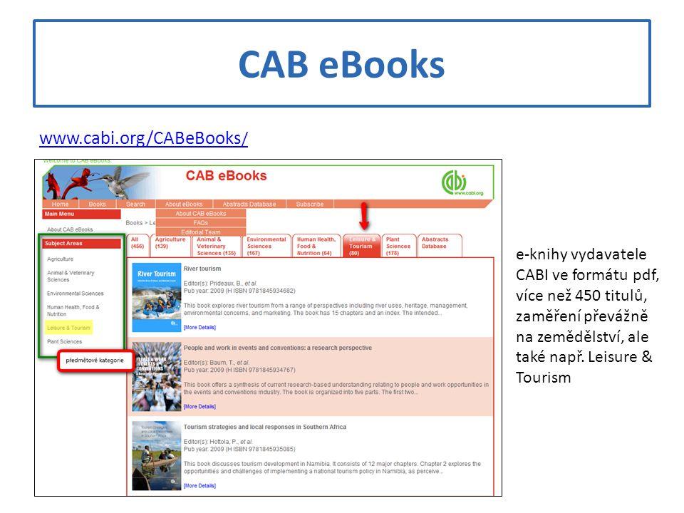 CAB eBooks www.cabi.org/CABeBooks/