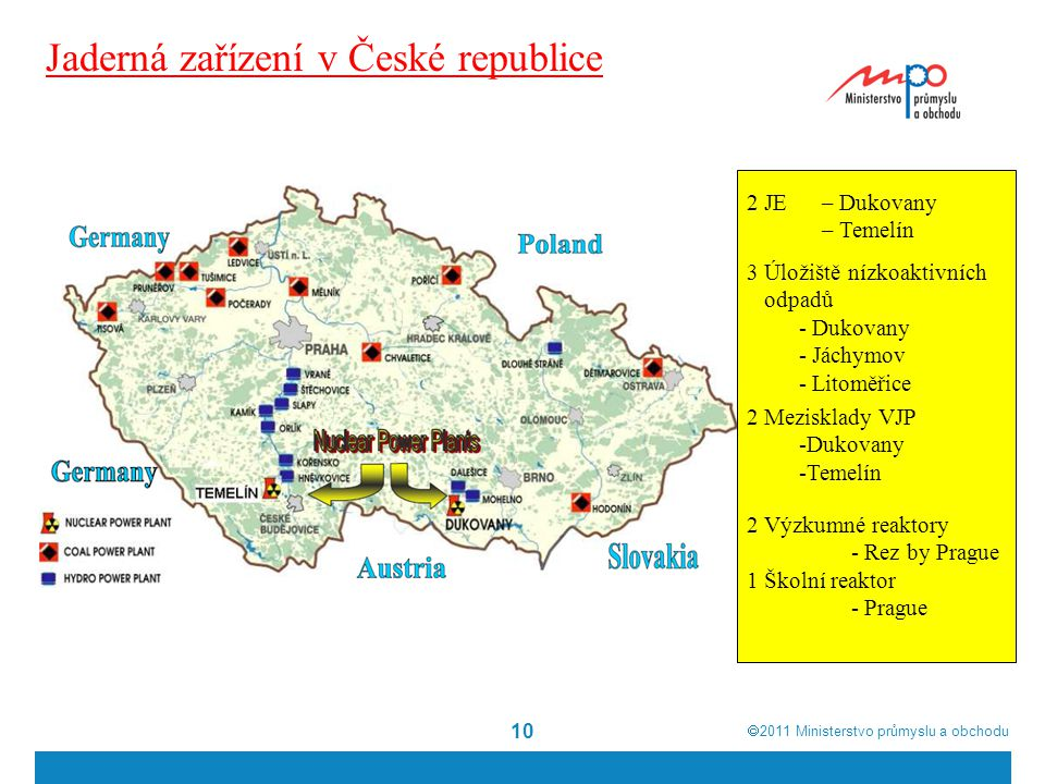 Jaderná zařízení v České republice