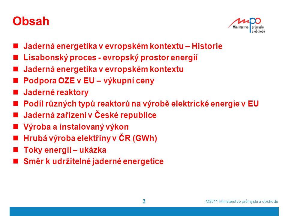 Obsah Jaderná energetika v evropském kontextu – Historie