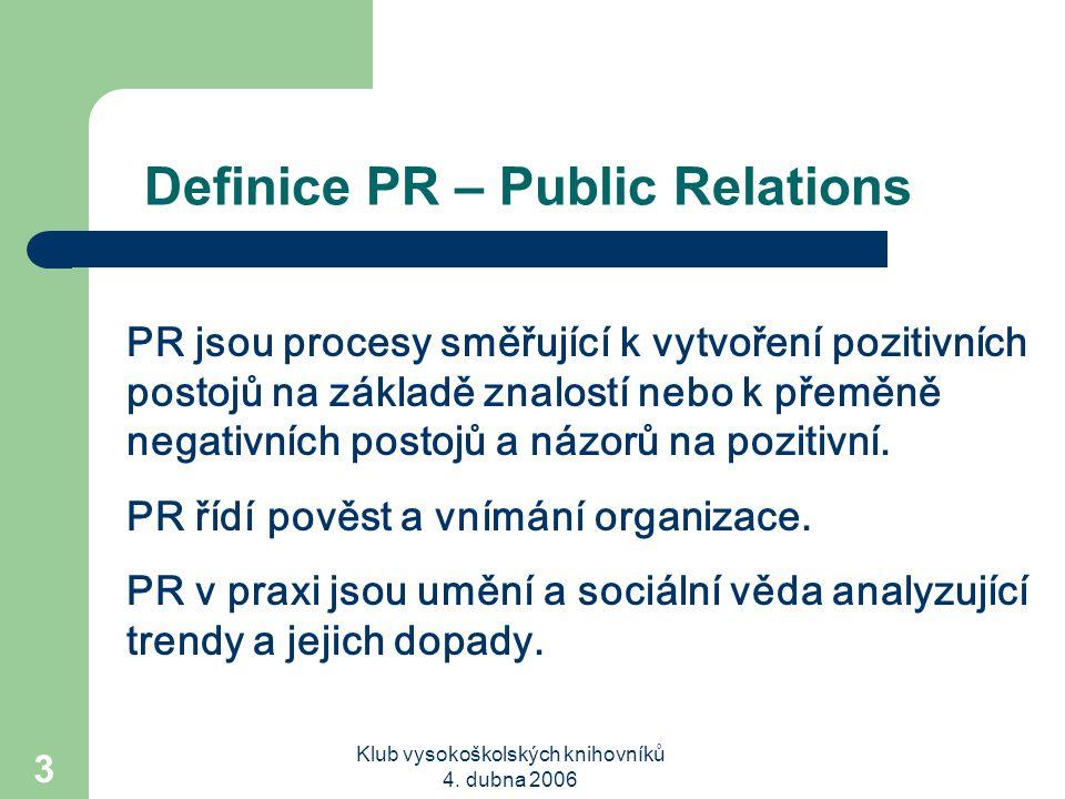 Definice PR – Public Relations