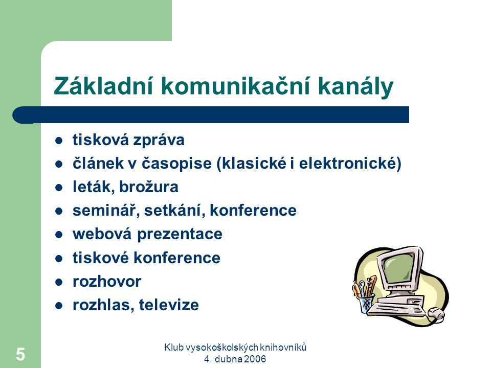 Základní komunikační kanály