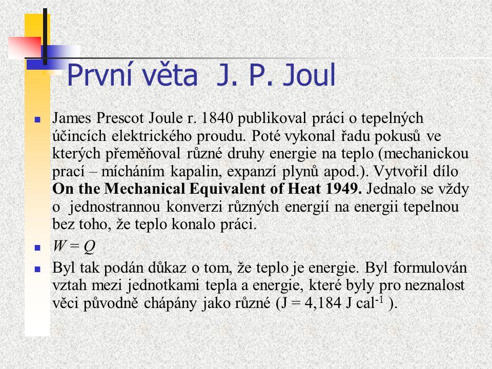 První věta J. P. Joul