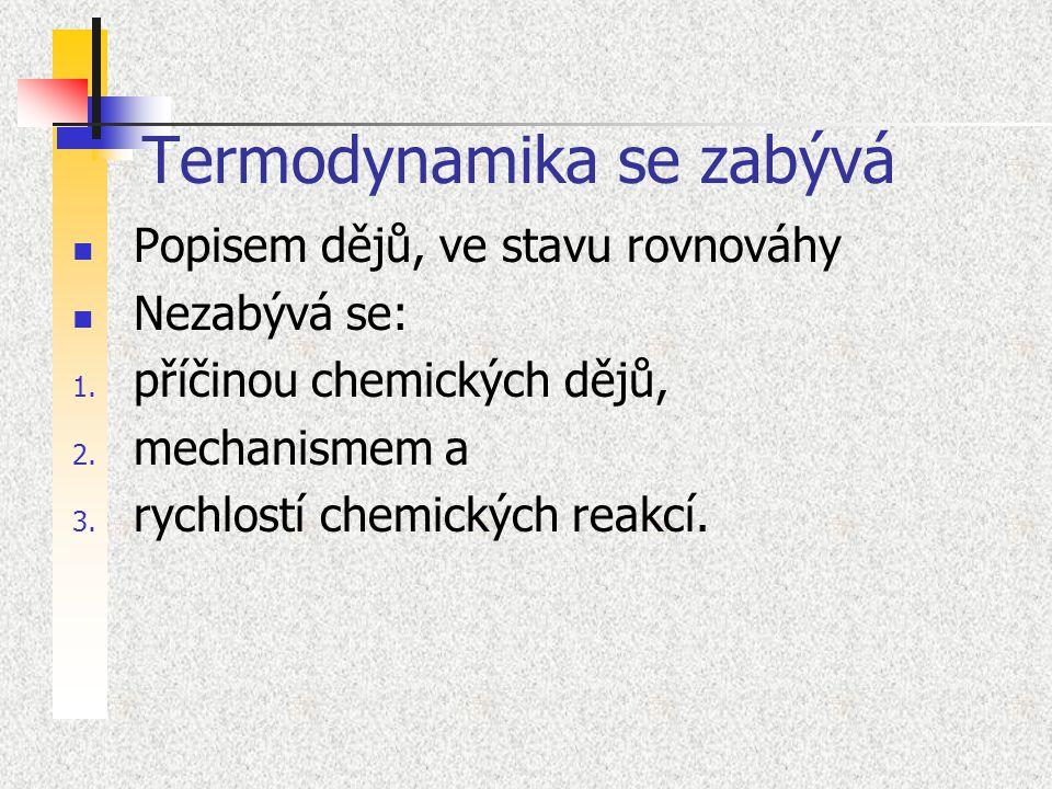 Termodynamika se zabývá