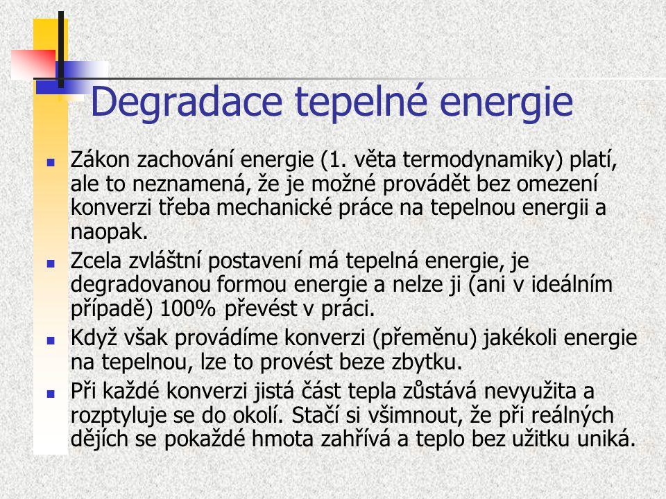 Degradace tepelné energie