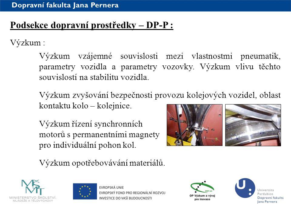 Podsekce dopravní prostředky – DP-P :