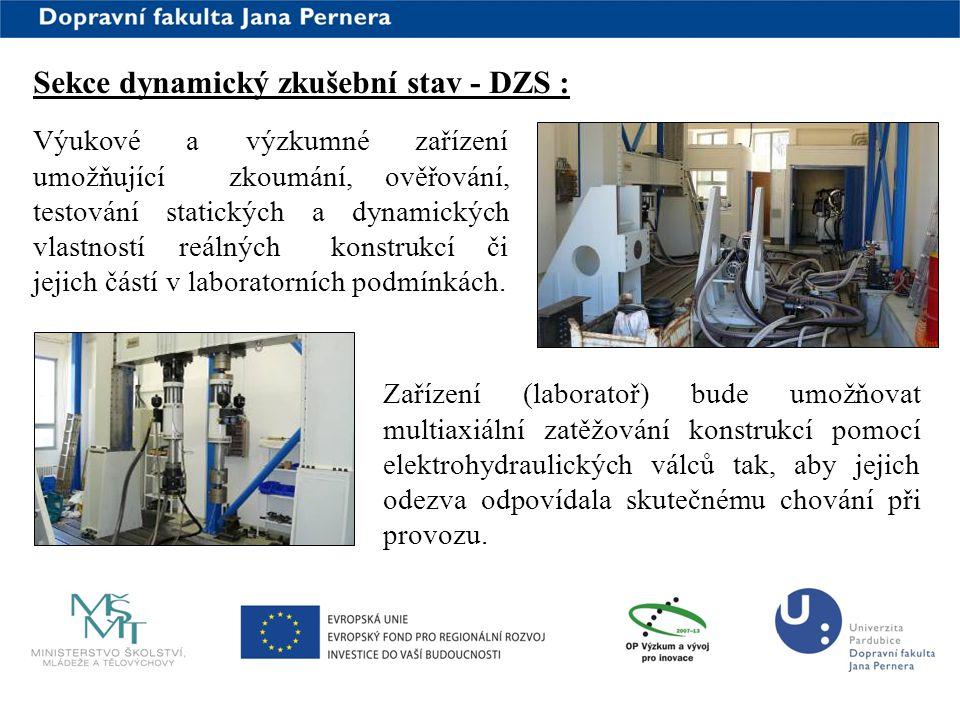 Sekce dynamický zkušební stav - DZS :