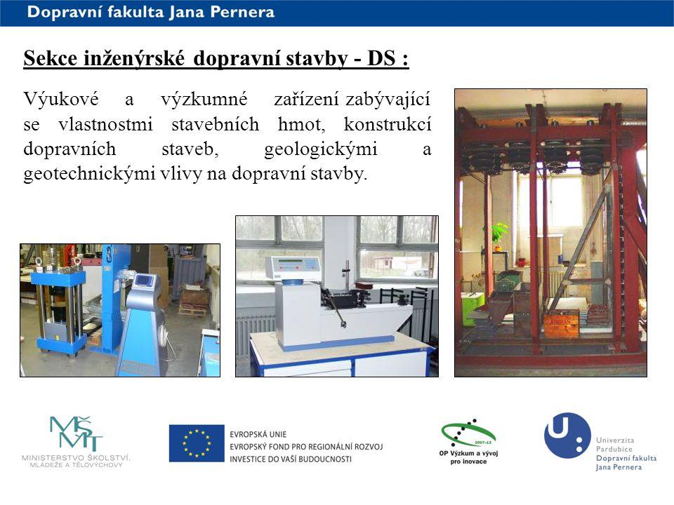 Sekce inženýrské dopravní stavby - DS :
