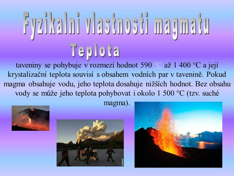 Fyzikalni vlastnosti magmatu