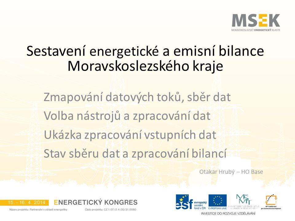 Sestavení energetické a emisní bilance Moravskoslezského kraje