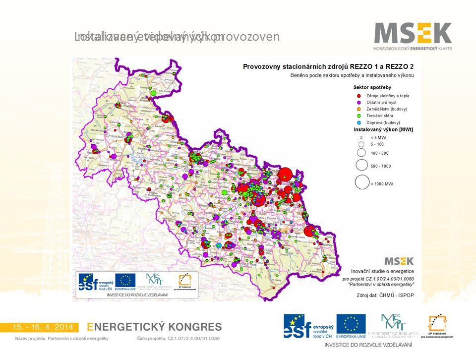 Lokalizace evidovaných provozoven