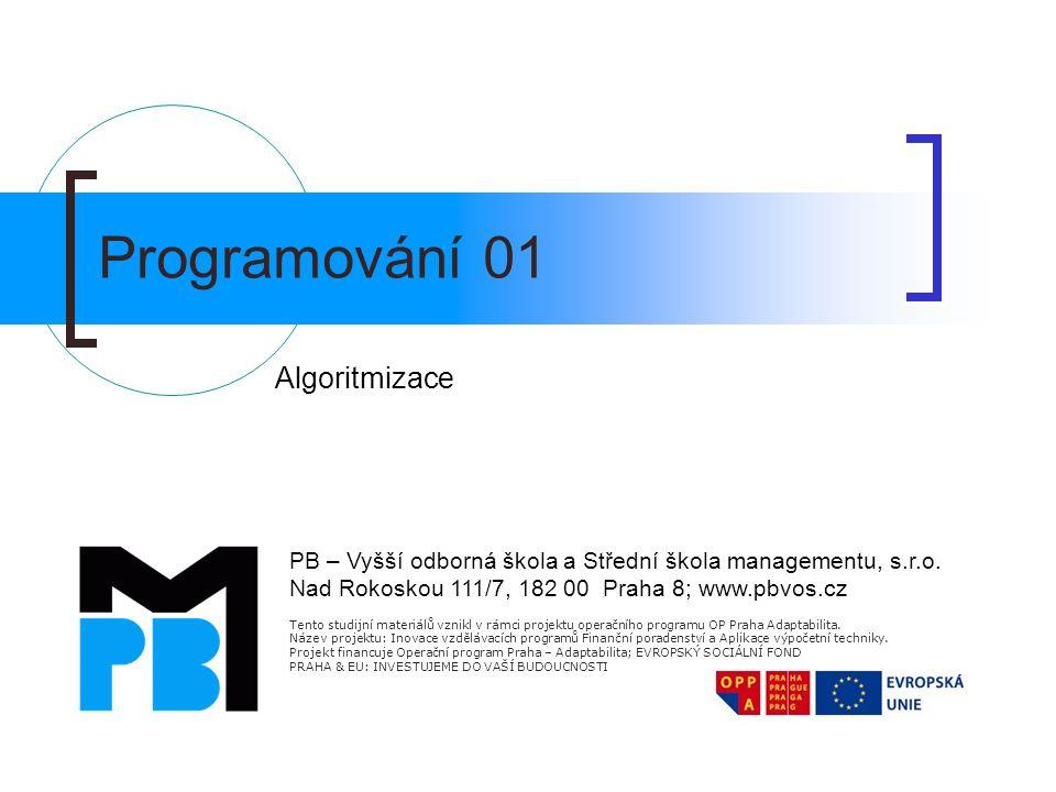 Programování 01 Algoritmizace