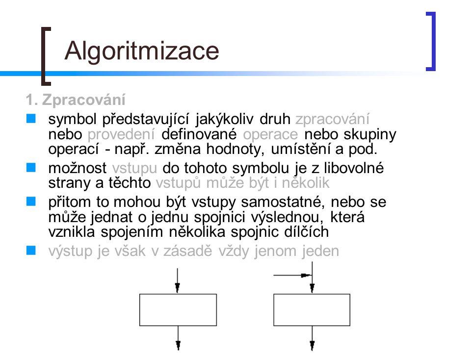 Algoritmizace 1. Zpracování