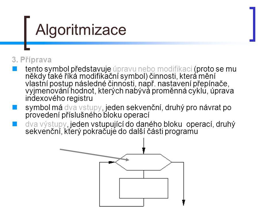 Algoritmizace 3. Příprava