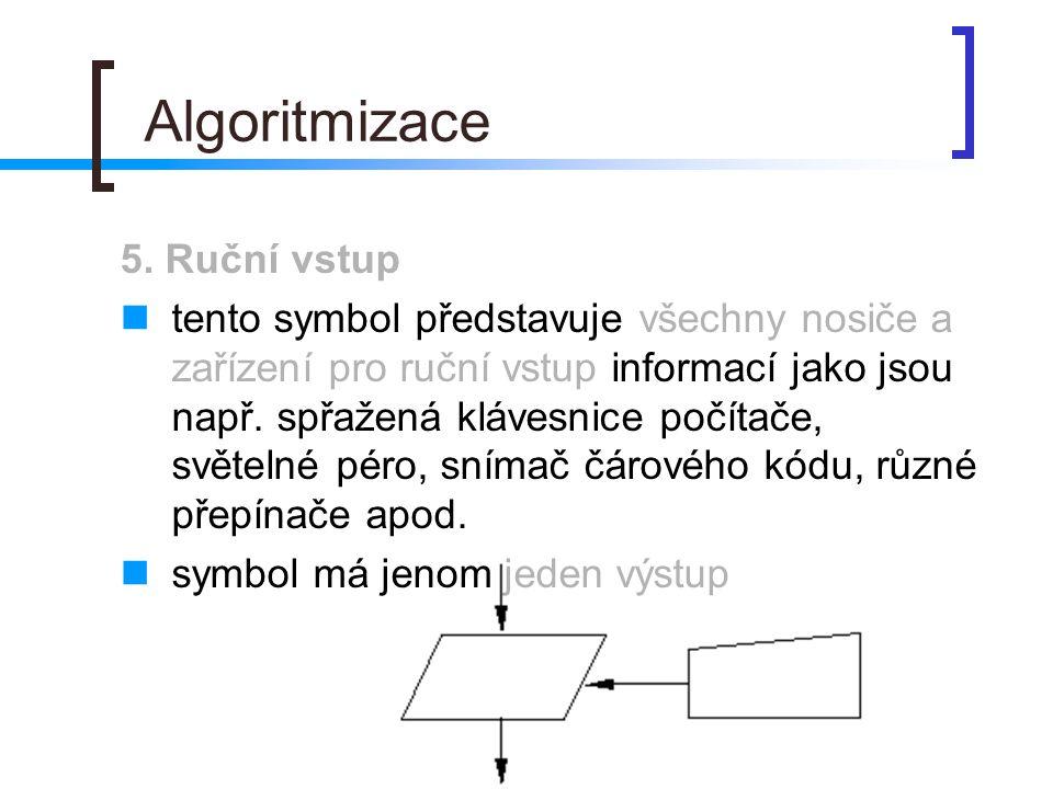 Algoritmizace 5. Ruční vstup