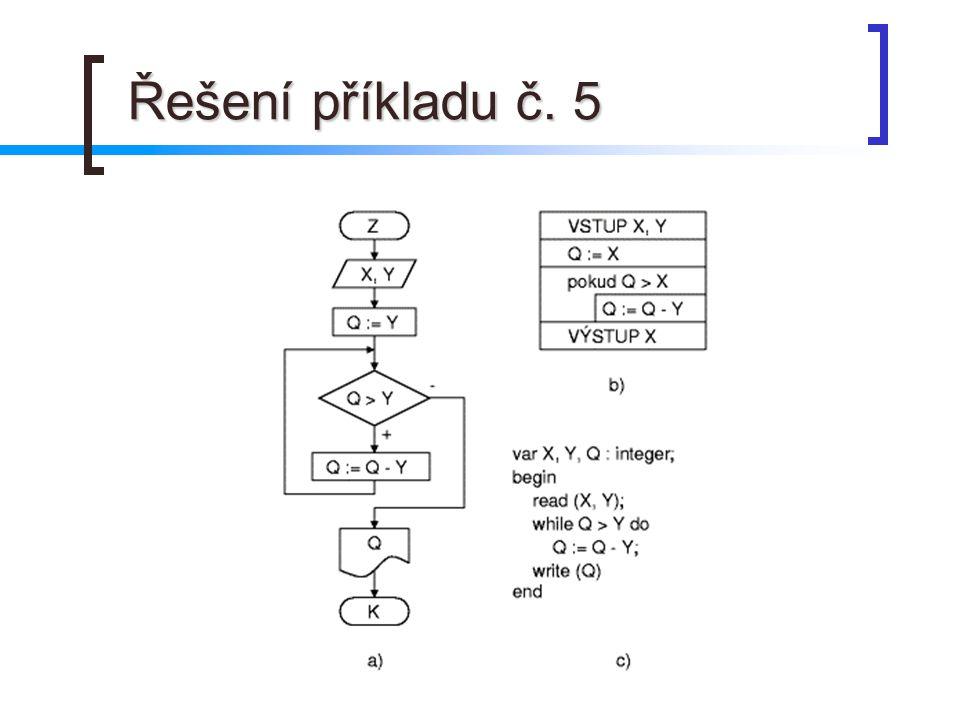 Řešení příkladu č. 5