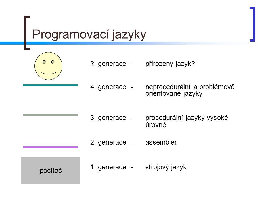 Programovací jazyky . generace - přirozený jazyk