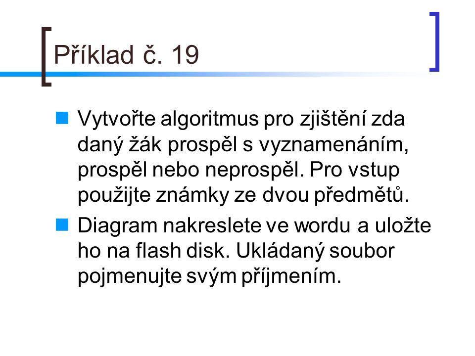 Příklad č. 19