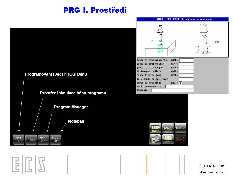 PRG I. Prostředí Programování PARTPROGRAMU