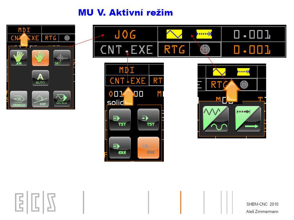 MU V. Aktivní režim SHBM-CNC 2010 Aleš Zimmermann