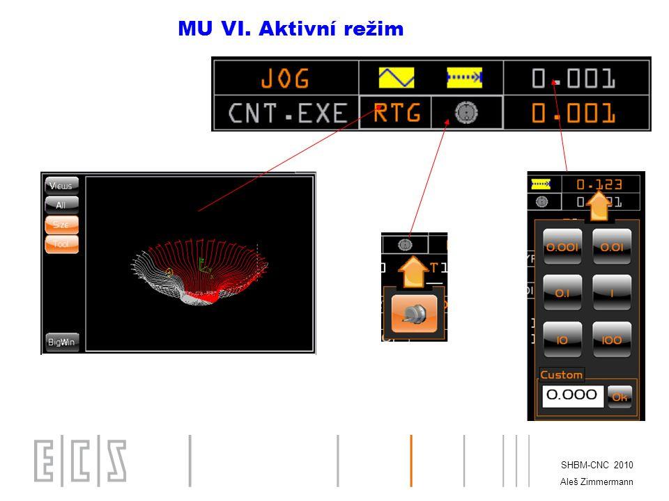 MU VI. Aktivní režim SHBM-CNC 2010 Aleš Zimmermann