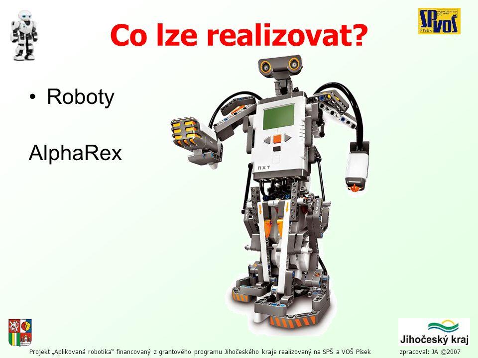 Co lze realizovat Roboty AlphaRex